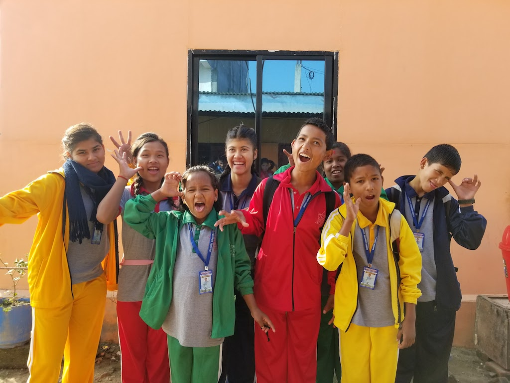 Srijansil Orphans going to school